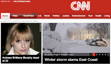 Brittany Murphy CNN screenshot from December 20, 2009