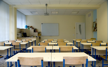 empty classroom photo