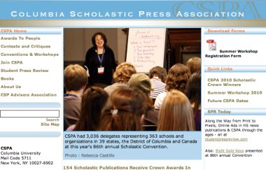 CSPA Announces 2010 Gold and Silver Crowns for Online High School News Sites