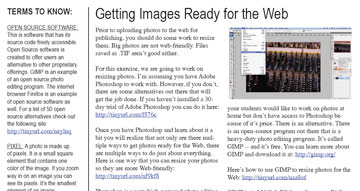 This is a screenshot of the image resizing handout.