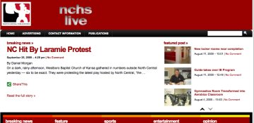 Screenshot of nchslive.com