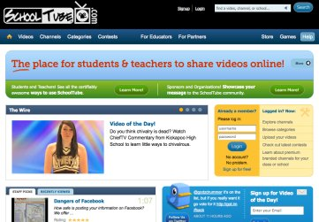 Screenshot of Schooltube.com