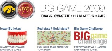 Screenshot of Des Moines Register rivalry coverage