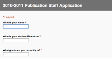 Staff application screenshot from FHNtoday.com