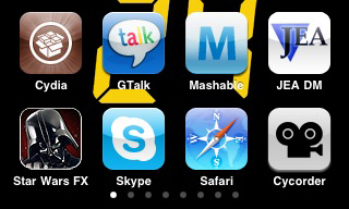 Screenshot of iphone/itouch icons