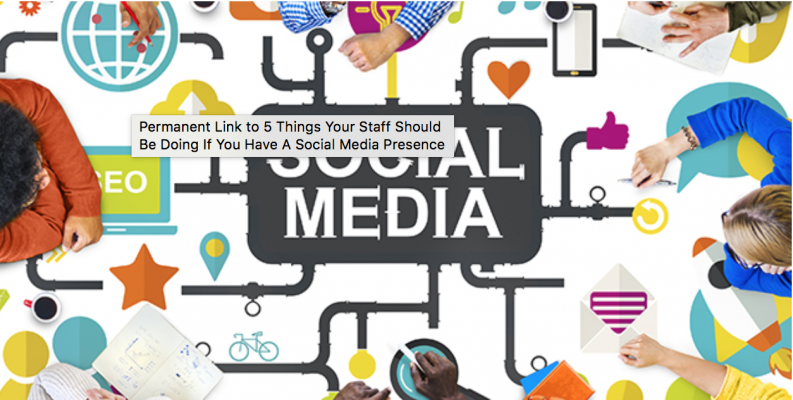 <h5>8. 5 Things Your Staff Should Be Doing If You Have A Social Media Presence</h5><p>There are lots of things your staff/program need to take into account if you're going to be effective in the social sphere. Here's a shortlist of 5 things to get you started…</p>