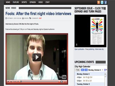 VIDEO INTERVIEWS:  Using Flip cameras and online sharing to improve convergence