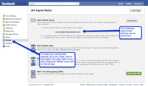 How to find your secret facebook page email address