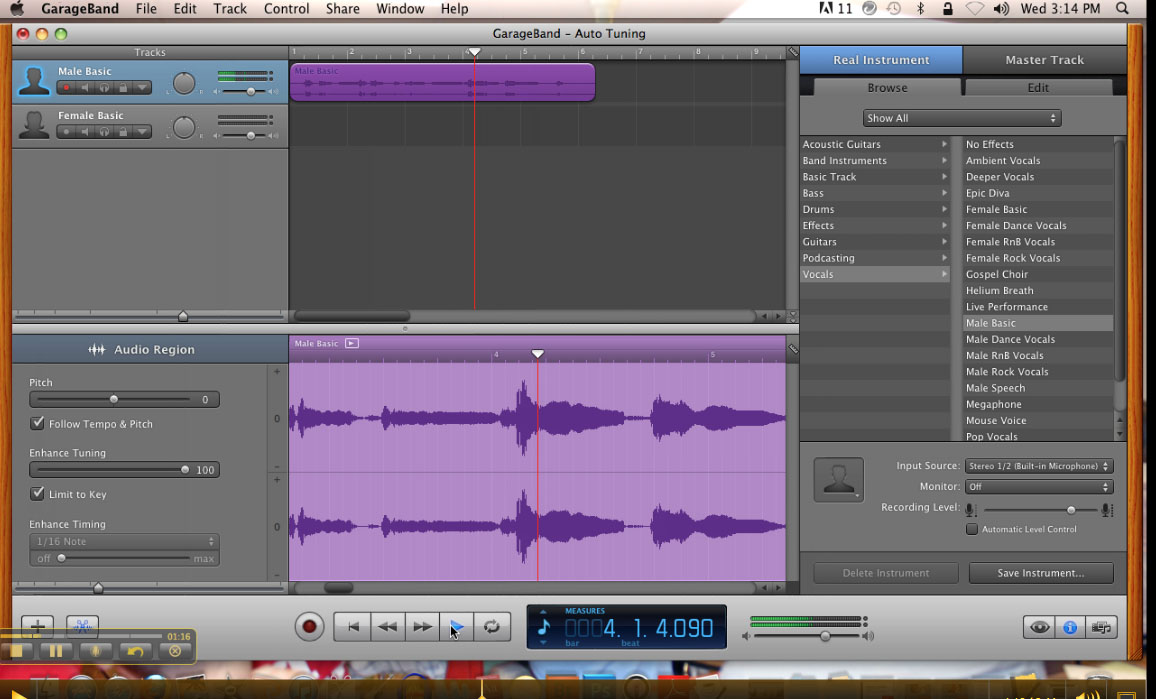 How To Auto-tune Your Voice in Garageband | JEADigitalMedia org