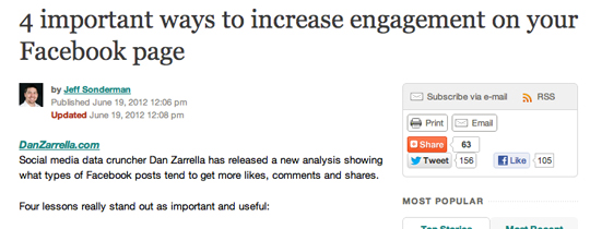 4 Tips from Poynter to Increase Facebook Page Engagement