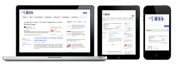 Screenshot of the Digital Media site on multiple platforms