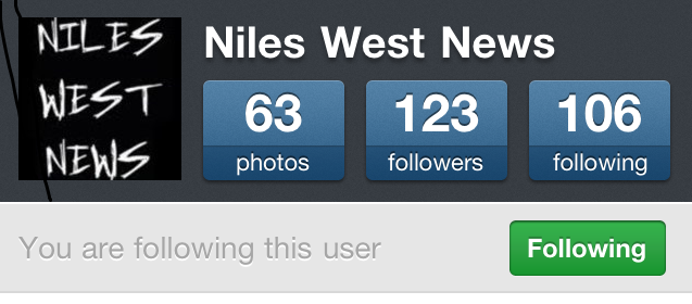The Instagram account of Niles West News.