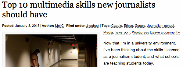 Coulson: Top 10 Multimedia Skills New Journalists Should Have