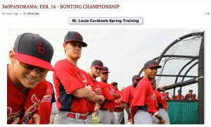 St. Louis Post-Dispatch photojournalist Chris Lee is creating some 360 panoramics at spring training in Florida.
