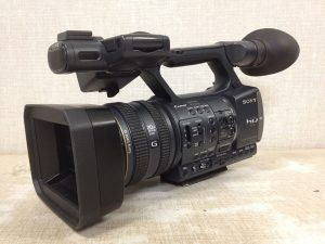"""Pro-sumer"" cameras like this Sony AX-2000 have full manual controls via the many switches and dials on the outside of the camera body to allow for quick access. (Cost: around $3400)"