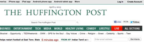 Huffington Post provides news for teens by teens