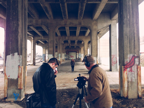 An HTV Magazine crew shoots on location. (Photo: Dave Davis)