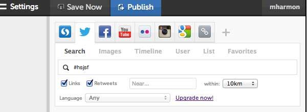 Storify Dashboard