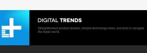 "Next to its logo for Digital Trends, the site claims to have ""Straightforward product reviews, reliable technology news, and tools to navigate the digital world."""
