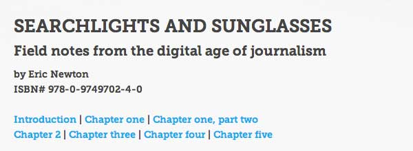 Searchlights and Sunglasses ebook on digital journalism