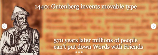 Picture of Gutenberg invents movable type