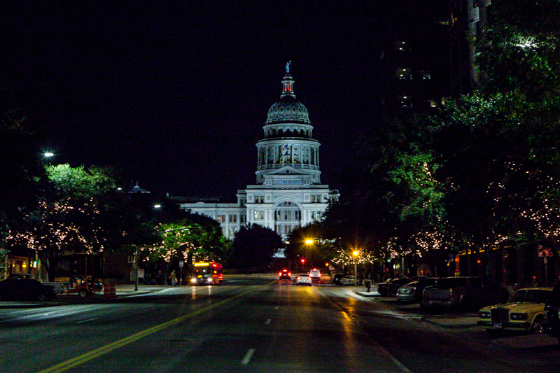 The state capitol building in Austin, Texas