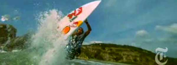 NYTimes article on surfing is a good example of divergent media (adding video to a print story)