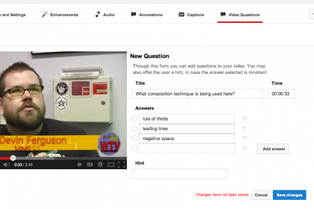 Adding Questions and Comments on YouTube Videos