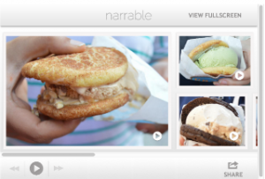 Narrable is a mobile and desktop application that can be used to create audioslideshows quickly and easily.