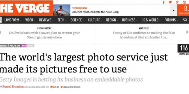 Like Getty Images, should school sites share free photos?