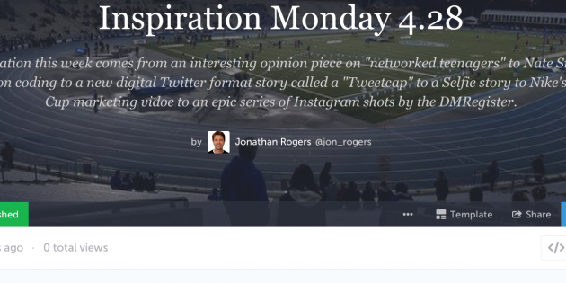 Inspiration Monday Storify with Google Docs Brainstorm