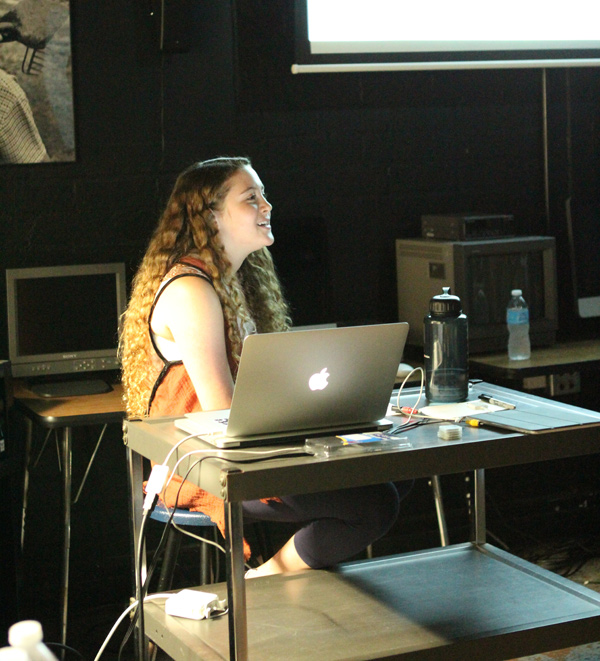 Our Online Producer, Miriam Sachs, presents examples and best practices to the staff during a training day.