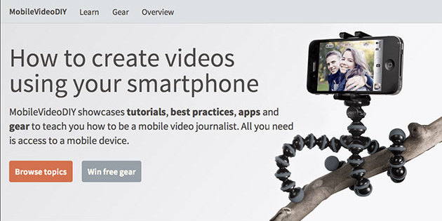 MobileVideoDIY is giving away 10 free mobile gear bags to student journalism programs