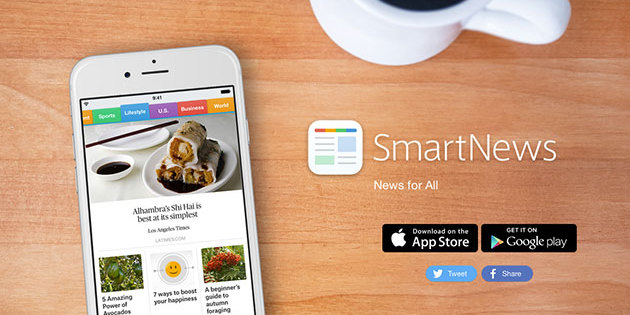 SmartNews is a news curation app that allows for offline reading on iOS and Android devices