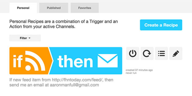 Use IFTTT.com to have an email sent to you everytime something posts to your website