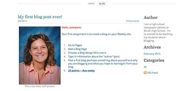 First Class Blog Assignment