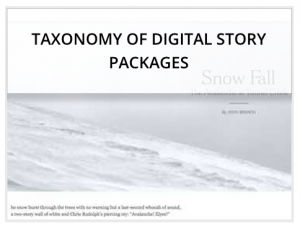 taxonomy of digital story packages