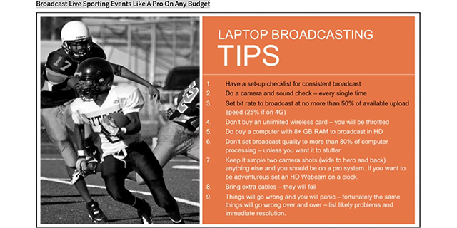 Worksheets Budget For Sports Events sports jeadigitalmedia org telestream com video broadcast live sporting events like a pro on any budget