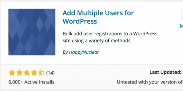 Looking to add multiple users to your WordPress site? Use the Add Multiple Users plugin