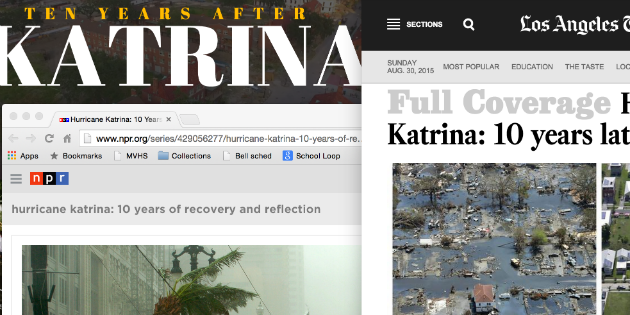 Katrina coverage featured