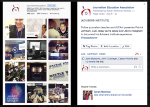 Using Facebook to promote the takeover helps reach even more potential followers.