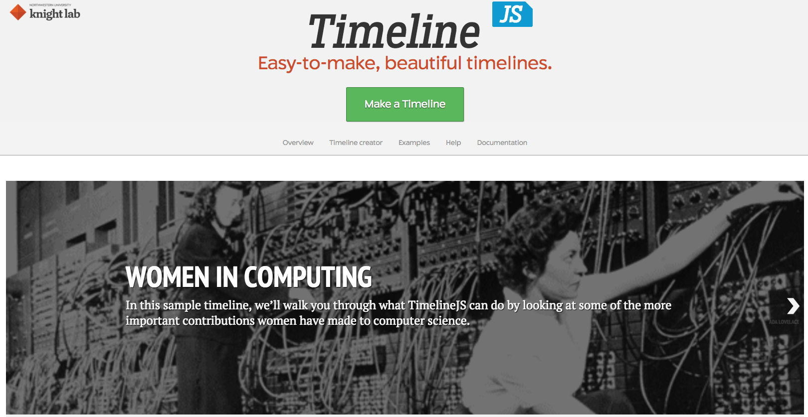 Timeline JS uses Google Sheets to help build beautiful, easy-to-use timelines that student journalists can use to add background reporting and context to their stories.