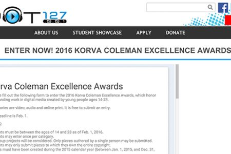 Feb. 1 deadline approaches for Korva Coleman Excellence Award entries honoring multimedia work