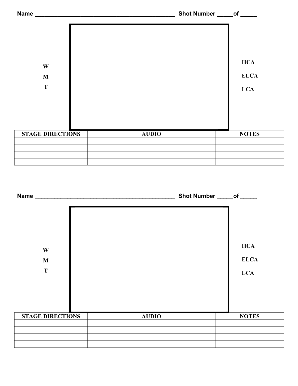 Downloadable Storyboard Templates For Broadcast Journalism
