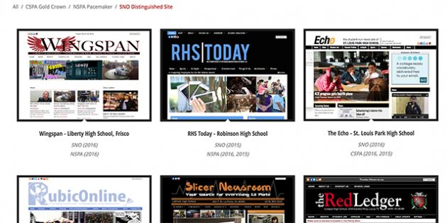 SNO page highlights award-winning high school websites