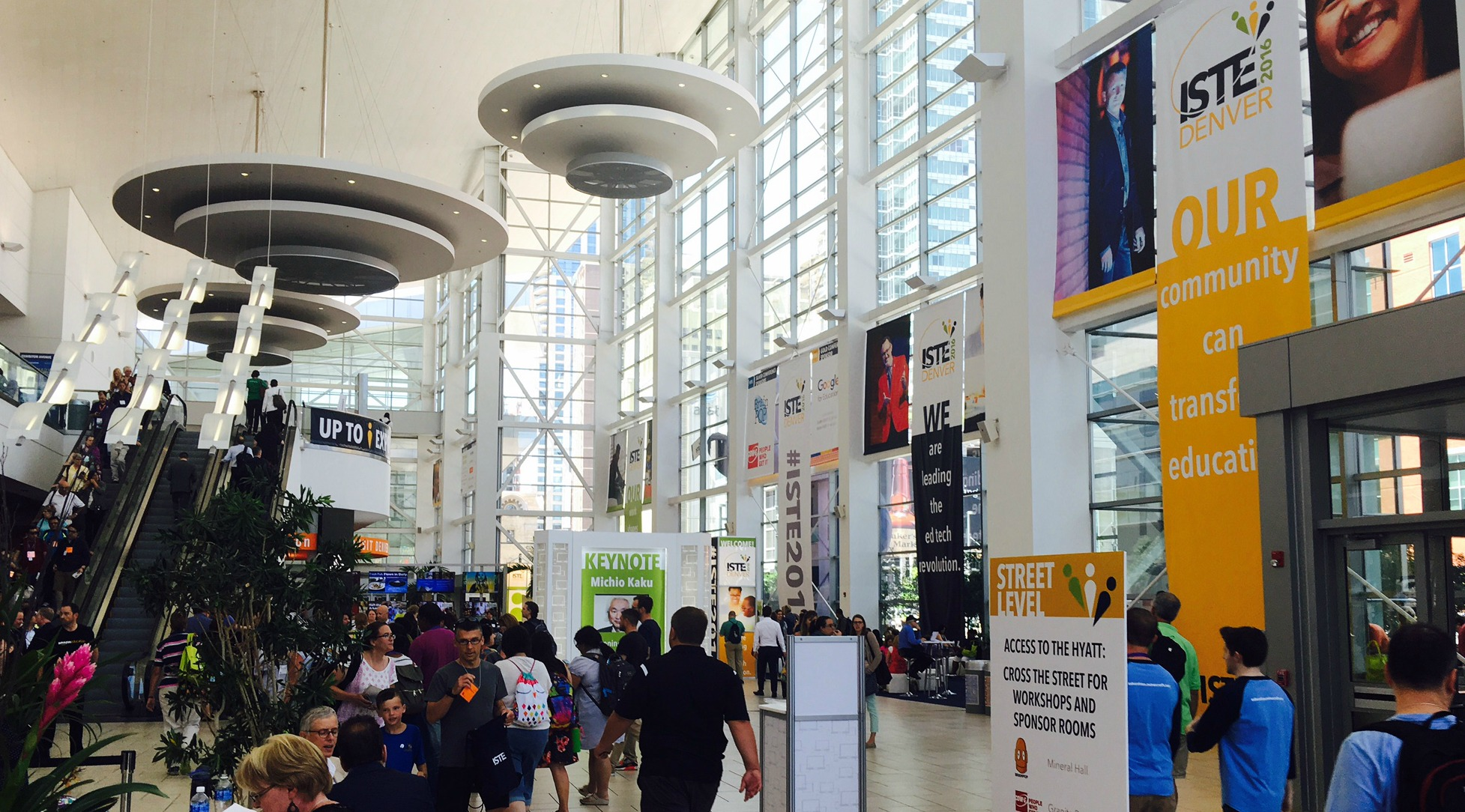 The entrance to ISTE 2016 in Denver, Colorado.  Photo by Jonathan Rogers