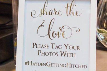 Say 'I do' to the #hashtag