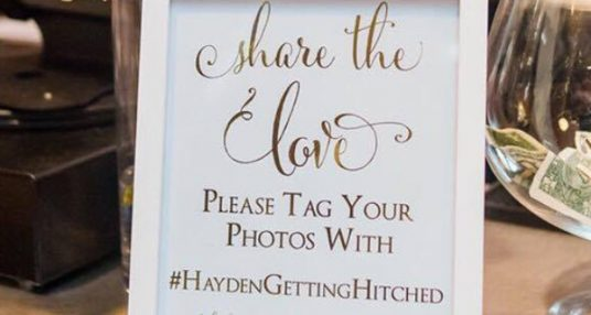 Say 'I do' to the #hashtag
