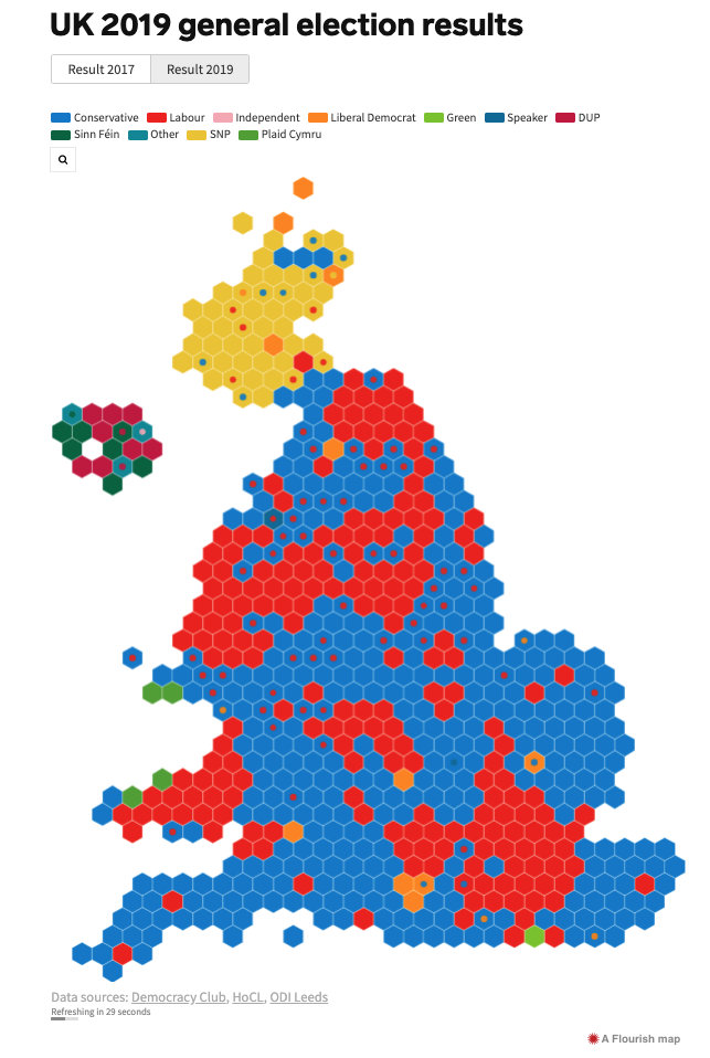 UK 2019 general election results