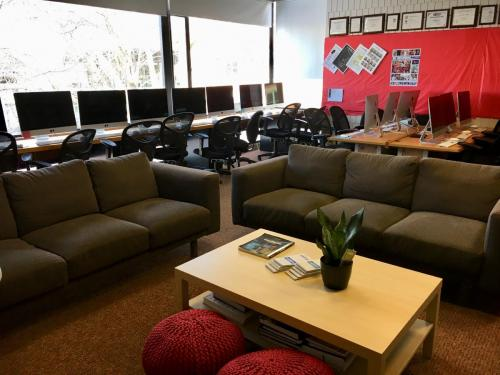 The room redesign in 2016 was modeled after Google offices.
